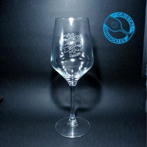 Nuevo modelo de copa de vino para personalizar con el diseño que necesite