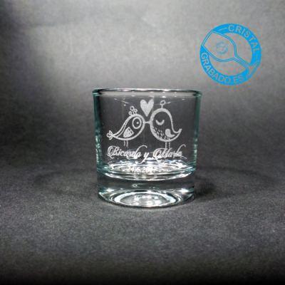 Vaso de chupito personalizado dibujo Boda