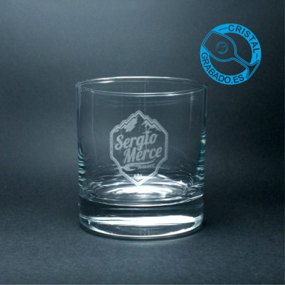 Vaso de whisky grabado sello Boda