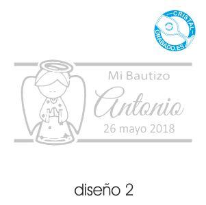 Ejemplo grabado Bautizo Diseño 2