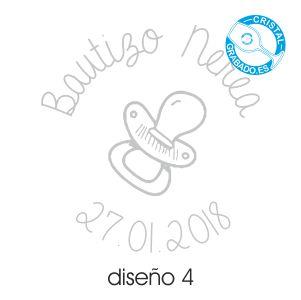 Ejemplo grabado Bautizo diseño 4