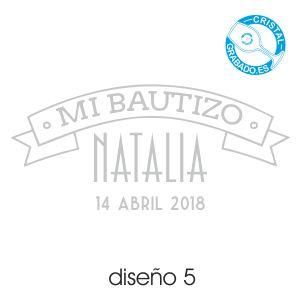 Ejemplo grabado Bautizo diseño 5