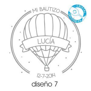 Ejemplo grabado Bautizo diseño 7