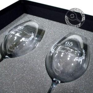 Copas grabadas mediante tecnología láser