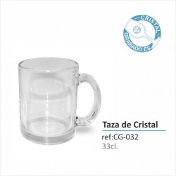 Taza de Cristal Personalizada 330ml