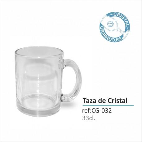 Taza Cristal Personalizada Color