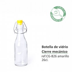 Botella de cristal personalizada 26 cl