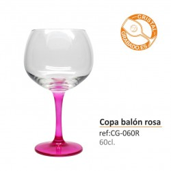 Copa balón color grabada 60 cl