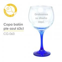 Copa grabada Balón Azul 63 cl