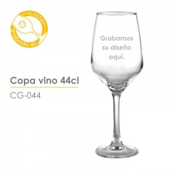 Copa de vino grabada de 44 cl.