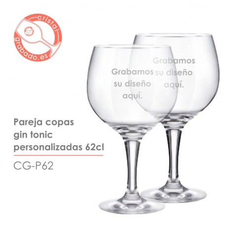 Pareja Copas Gin Tonic Personalizadas