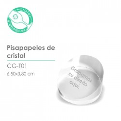Pisapapeles cristal personalizado