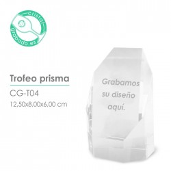 Trofeo cristal Prisma
