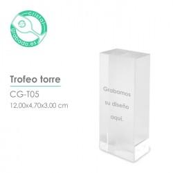 Trofeo de cristal Torre