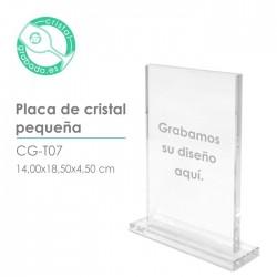 Placa cristal pequeña
