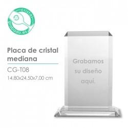 Placa cristal mediana