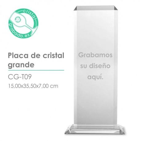 Placa cristal grande