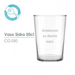 Vaso sidra personalizado 50 cl.