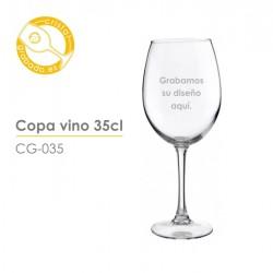 Copa vino personalizada 35 cl.