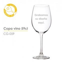 Copa grabada vino 59cl