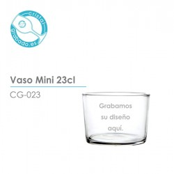 Vaso de sidra mini de 23cl