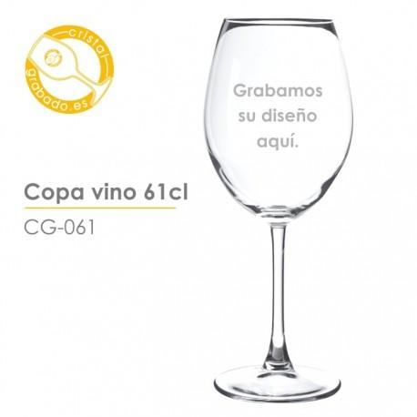 Copa de vino de 61cl. grabada