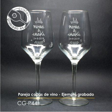 Copas vino personalizadas ejemplo
