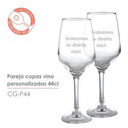 Pareja copas de vino personalizadas 44 cl.