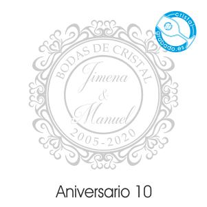 grabado dibujo sello boda 15 aniversario diseño 10