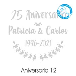 grabado dibujo sello boda 25 aniversario diseño 12