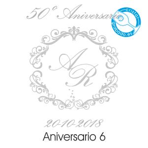grabado dibujo sello boda 50 aniversario diseño 6
