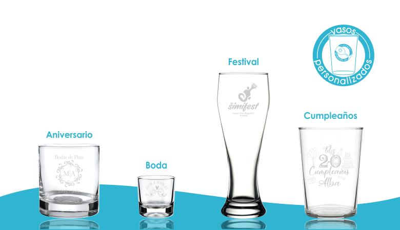 Vasos de cristal personalizados