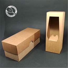 Cajas de presentación individual para catavinos personalizados.