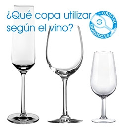¿Qué copa de cristal utilizar según el vino?