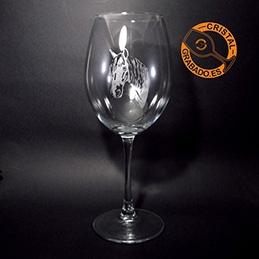 Copa de vino 61cl grabada con tecnología láser