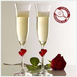 El mejor regalo para San Valentín. Copas Corazón para el día de los enamorados.