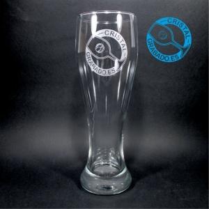 Vaso cerveza de trigo grabado con logotipo