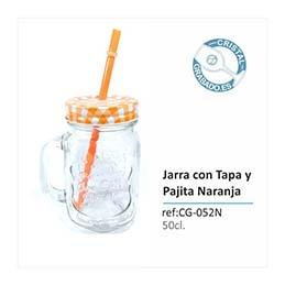 Disfruta este verano de las jarras con tapa y pajita de cristalgrabado.es