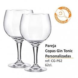 Pareja de Copas de Gin Tonic Personalizadas con grabado láser