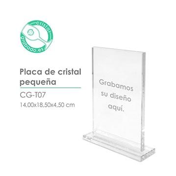 Placas y trofeos de cristal personalizados con grabado láser