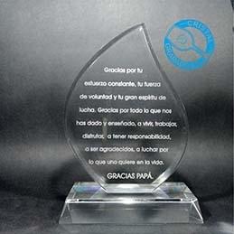 Trofeos y obsequios conmemorativos de cristal.