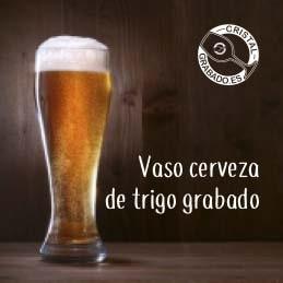 Vaso de cerveza de trigo personalizado con logotipo de cerveza artesana