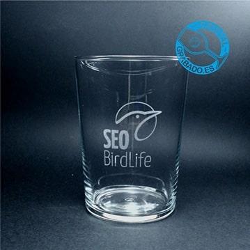 Vasos de sidra grabados con logotipo de empresa