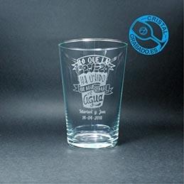 Vasos de Caña para Cerveza y Vasos de Sidra Grabado Personalizados